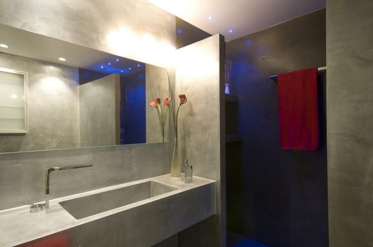 Microcemento ba os con cubiertas frescas y atractivas - Microcemento para banos ...