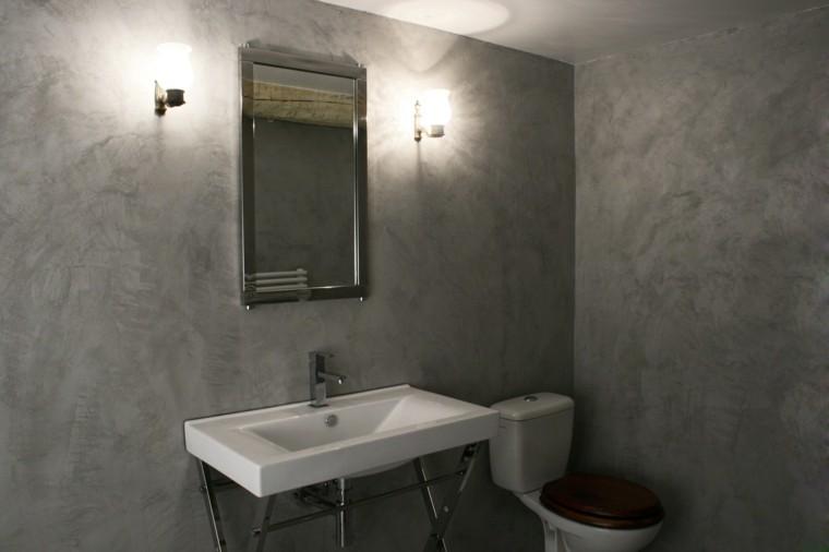 Microcemento ba os la nueva moda en revestimientos - Beton cire sur mur salle de bain ...