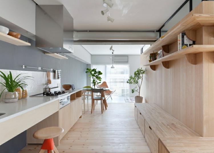 minimalista decorado plantas sillas vidrio