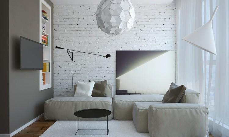 minimalista luces diseños plantas blanco