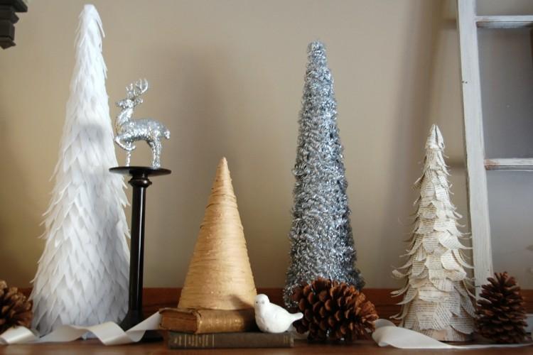 minimalistas arboles navidad soluciones plateados