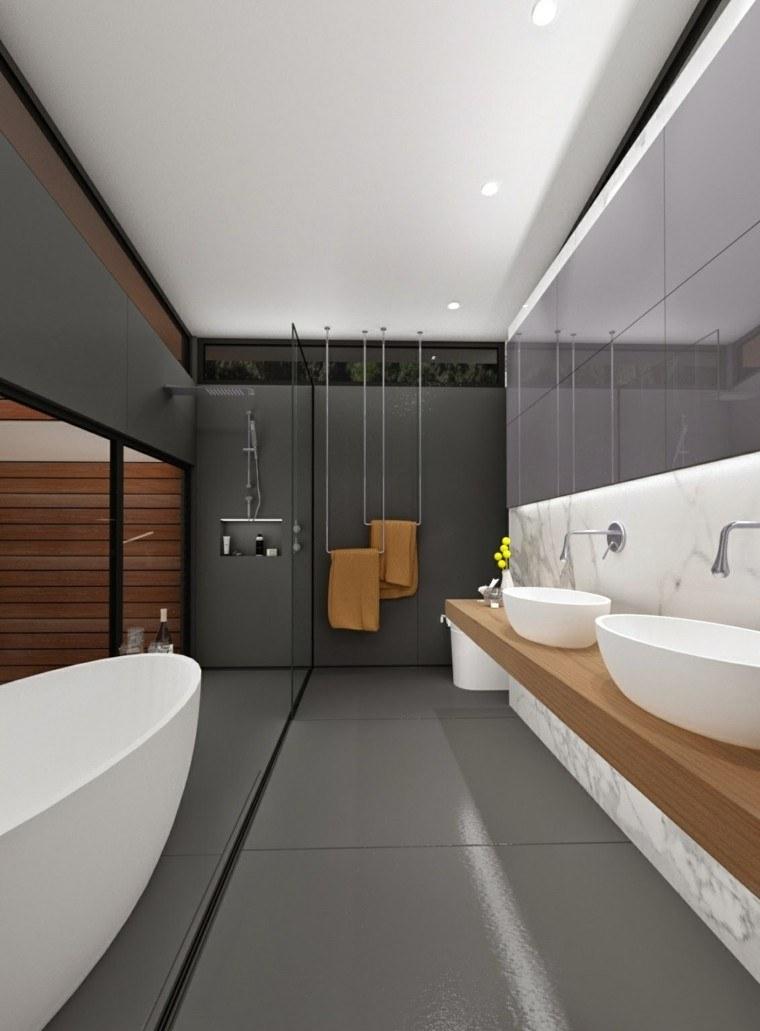 Baño Pequeno Estrecho:Baños modernos con ducha 50 diseños impresionantes -