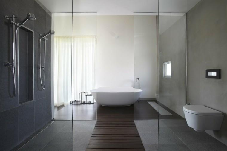 minosa banos modernos ducha camino madera ideas