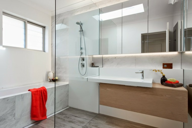 minosa banos modernos ducha suelo marmol ideas