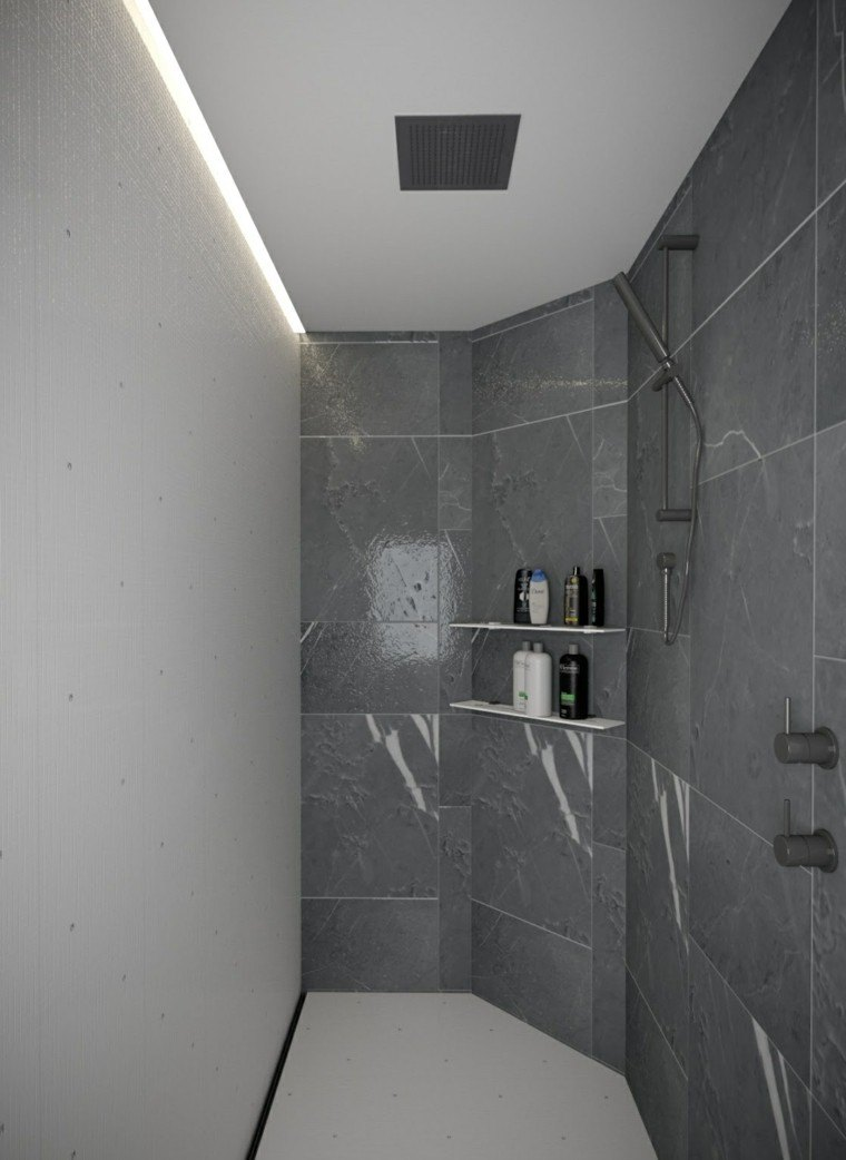 Baños Modernos En Marmol:Baños modernos con ducha 50 diseños impresionantes -