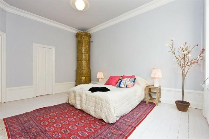 mirada natural dormitorio alfombra vintage ideas