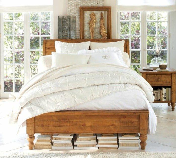 mirada natural dormitorio cama madera mesita noche ideas