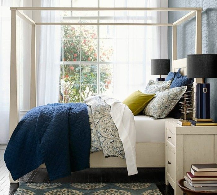 mirada natural dormitorio madera blanca cama ideas