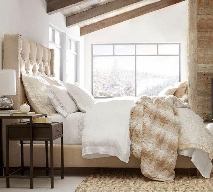 dormitorio parede blancas madera ideas