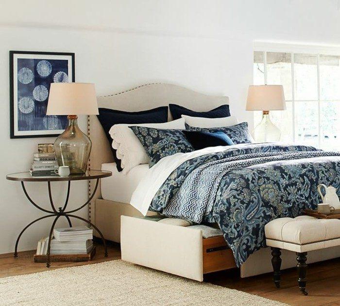 dormitorio paredes blancas cuadro ideas