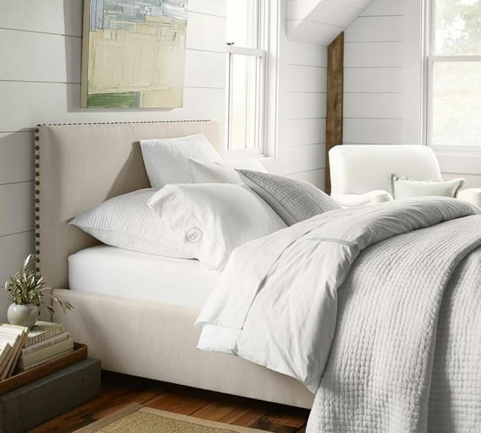 dormitorio paredes madera blanca preciosas ideas