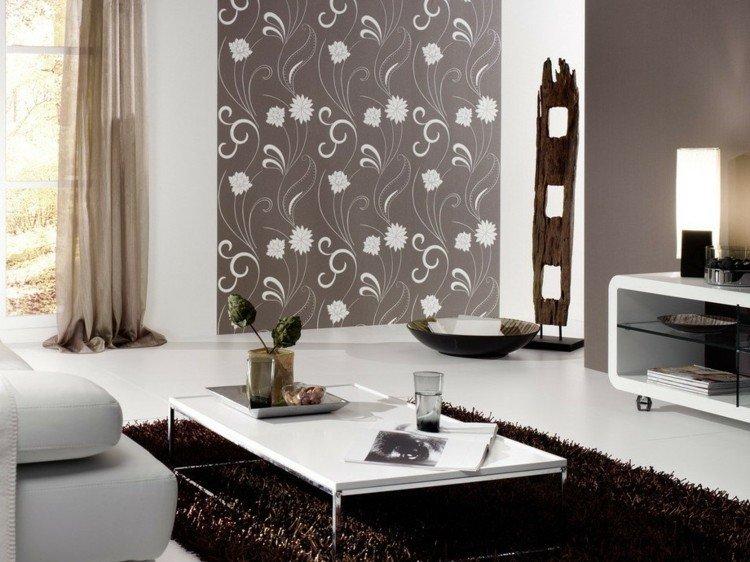 mobiliario flores paredes decorado crema maderas