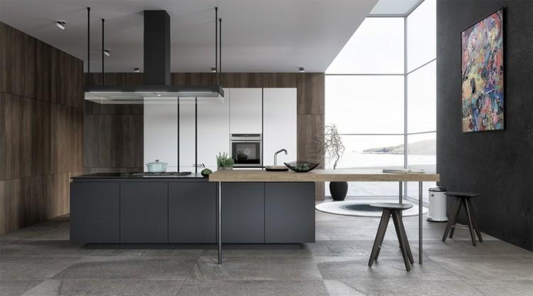 modelos de cocinas estilos colores cuadro grises