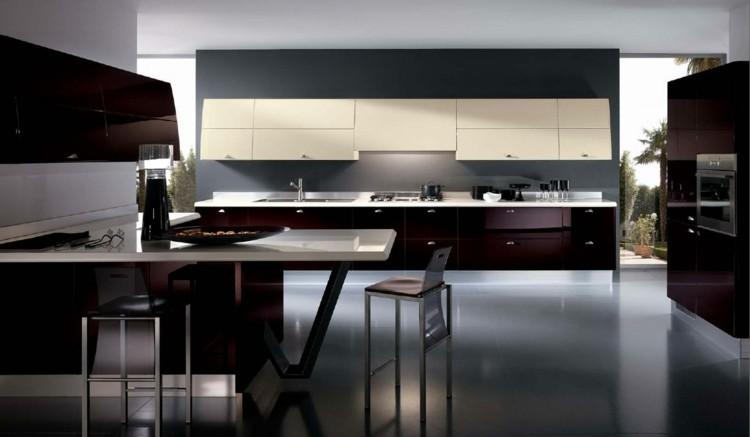 modelos de cocinas estilos elegantes grises