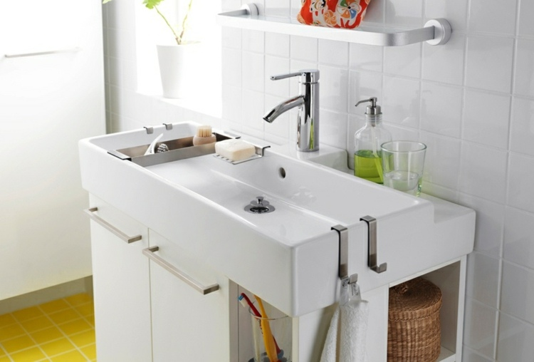 moderna ducha plato colores amarillo