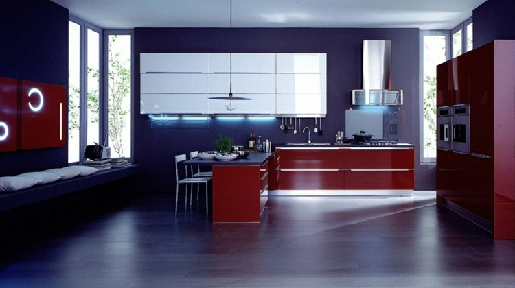 moderna led diseños ramas italia rojo
