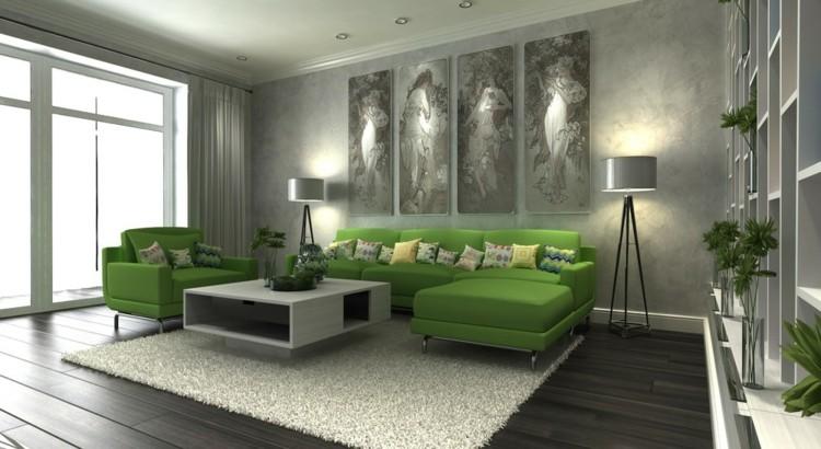 moderno esferas verdes cortinas cristales