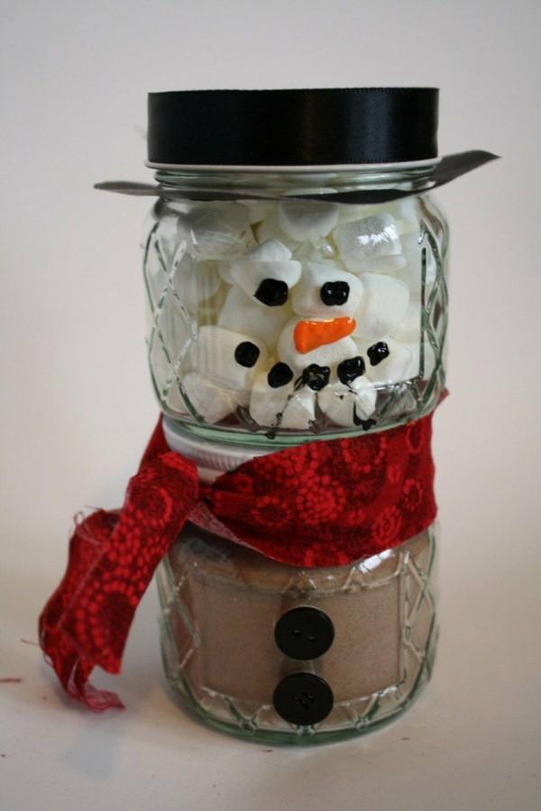 muñeco nieve tarro lleno gominolas