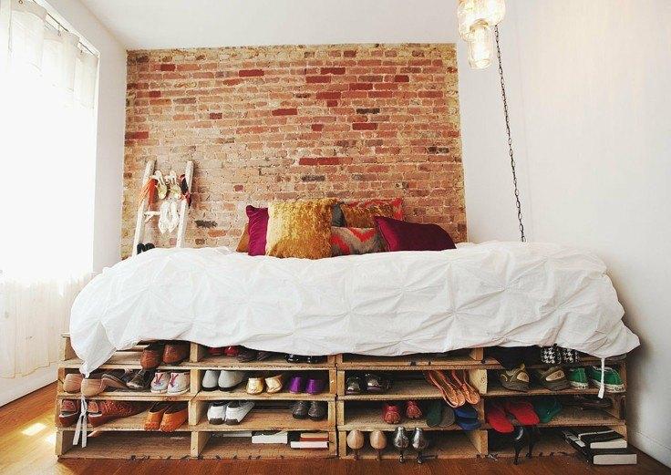decoracion DIY mueble cama palet madera