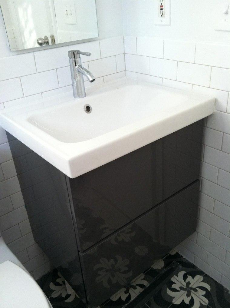 mueble lavabo moderno negro