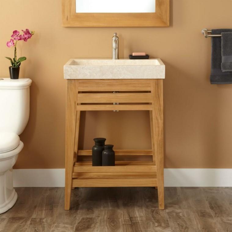 mueble lavabo rústico madera