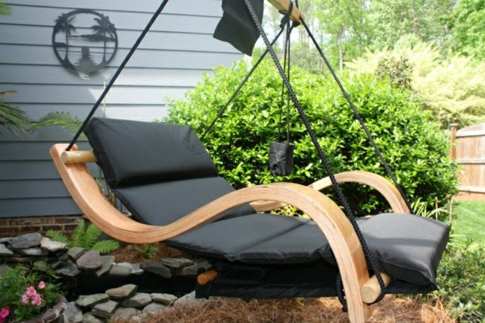 mueble mecedor terraza ideas originales buen tiempo ideas