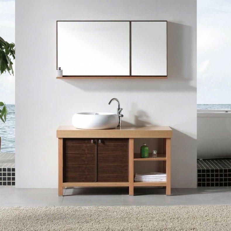 Espejos para ba os modernos 38 modelos con estilo for Mueble dos puertas