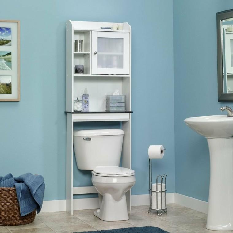 muebles blancos baños pequeños
