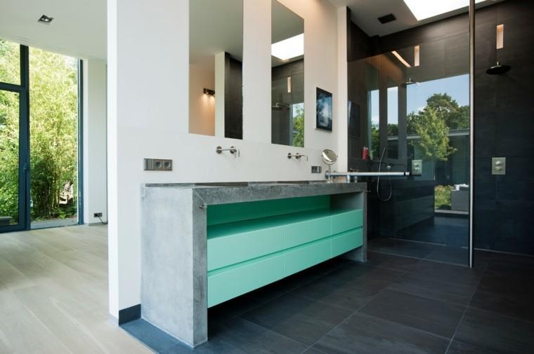 muebles baño cemento armado