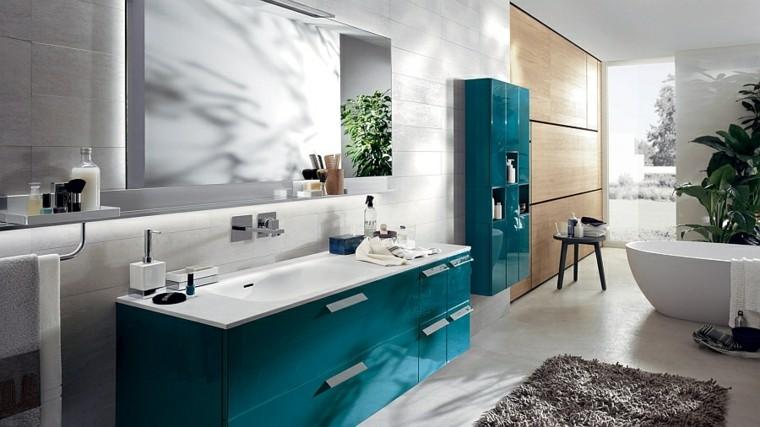 muebles baño color azul turquesa