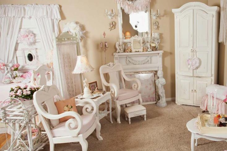muebles blancos estilo francés romantico