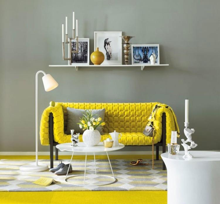 muebles estilos diseños grises cuadros