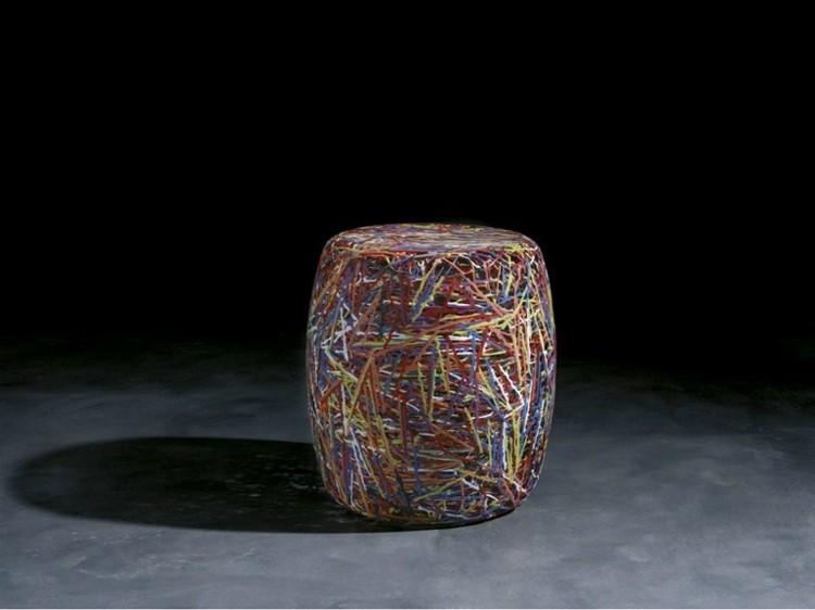 muebles modernos salon colorido fibra