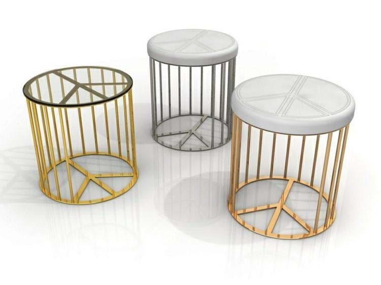 muebles modernos salon diseños dorados diferentes