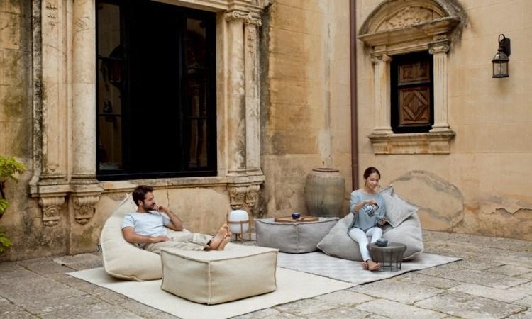 muebles modernos salon exteriores columnas ideas