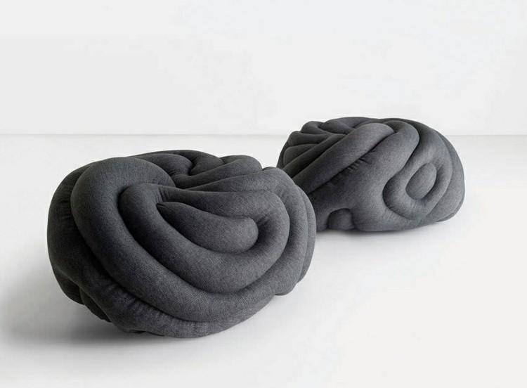 muebles modernos salon grises formas rosca