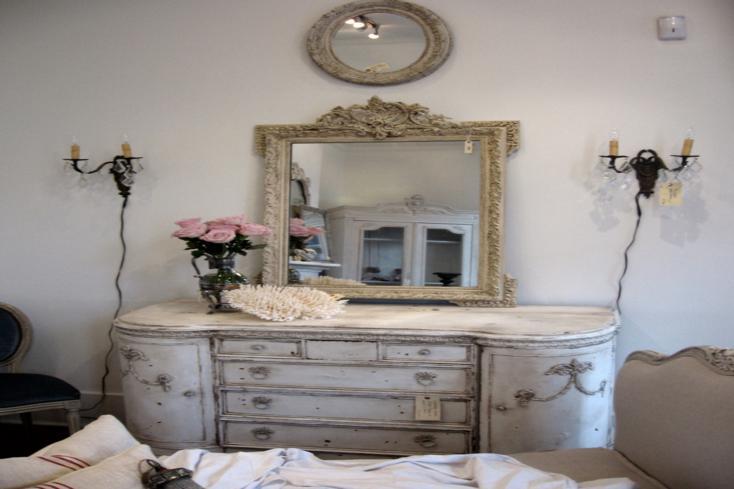 muebles estilo retro tocador espejo