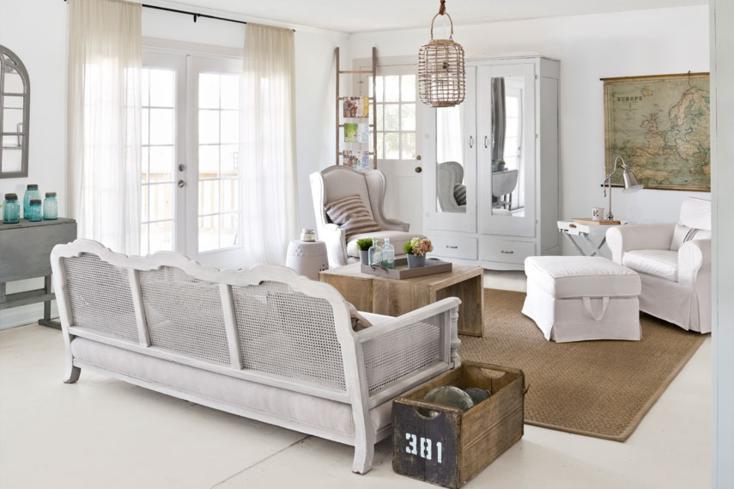 muebles salon estilo shabby