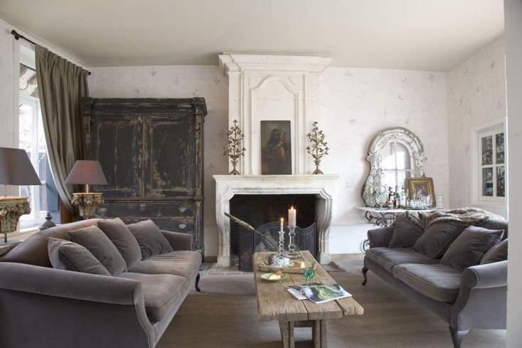 muebles terciopelo color gris