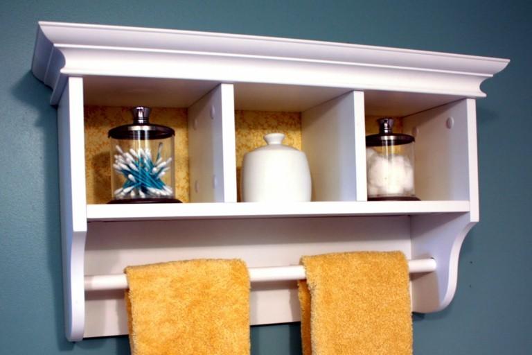 Estantes Metalicos Para Baño:Mueble de pared con estantes para baño