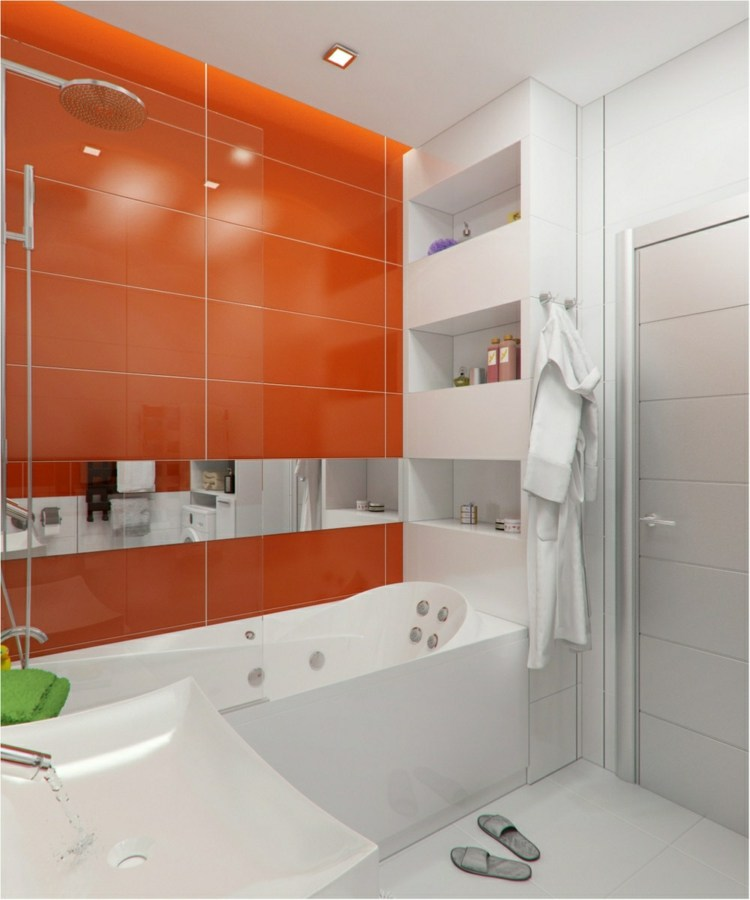 naranja diseños madera blanco