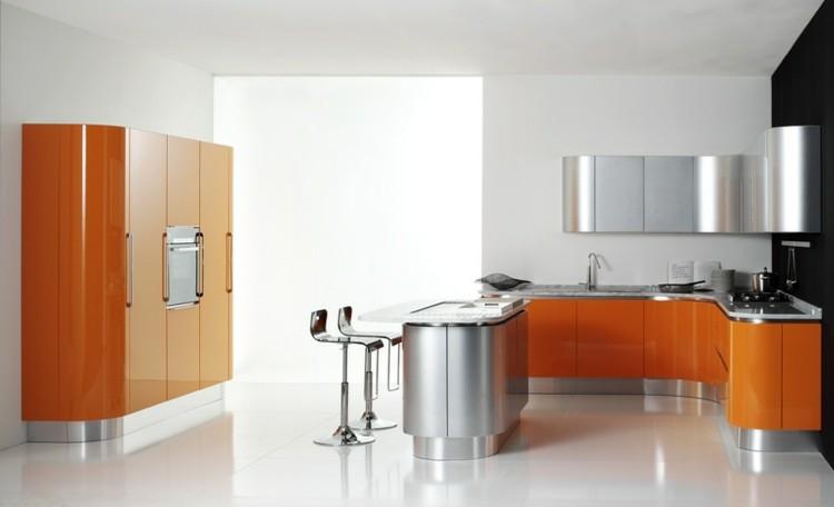 naranja estilo diseño metales fresca