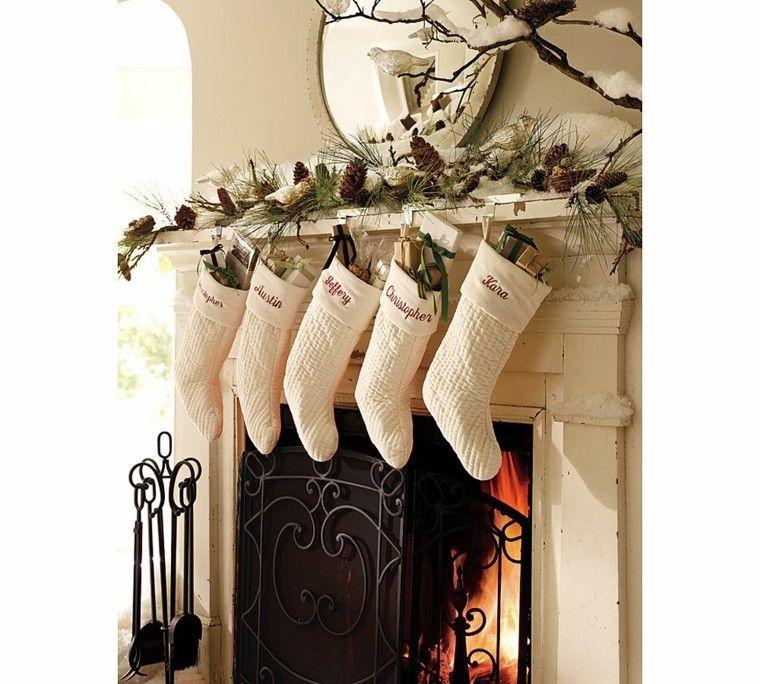 decoración navidad moderna color blanco