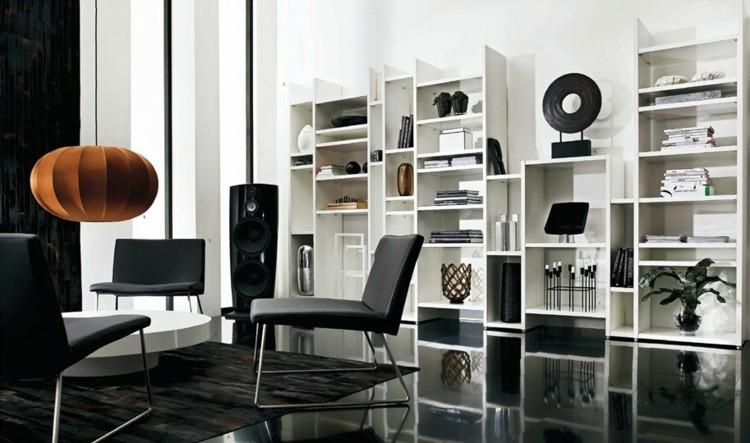 negro estilo casa diseño blanco sillones