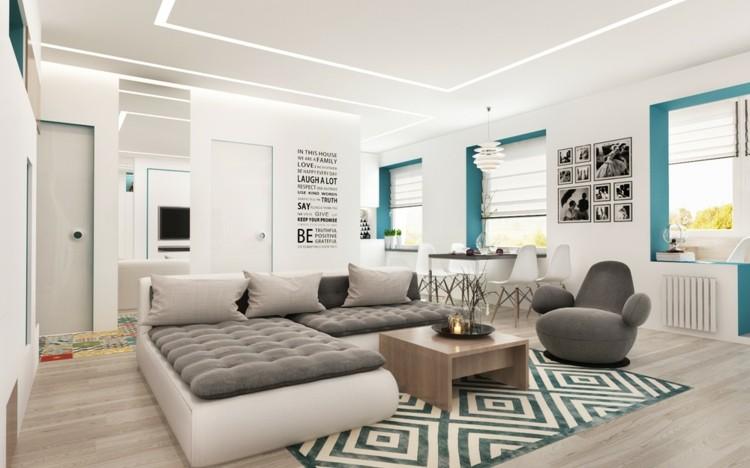 neutral gris interior casa ramas figuras