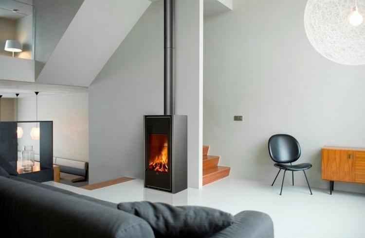 nuevo estilo casas chimeneas tradicional silla