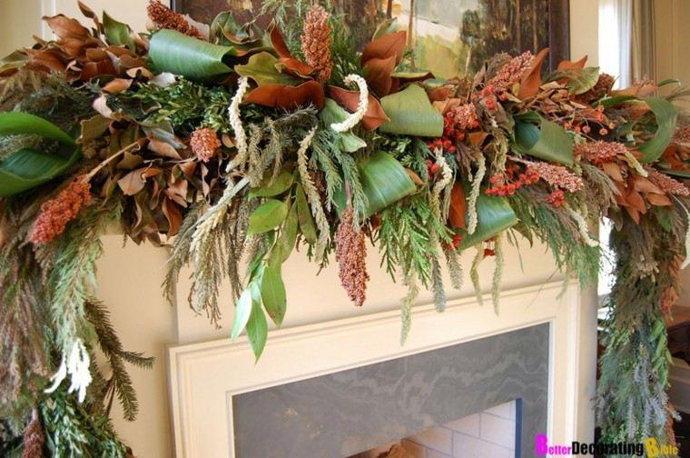 orginal guirnalda navidad hojas magnolia