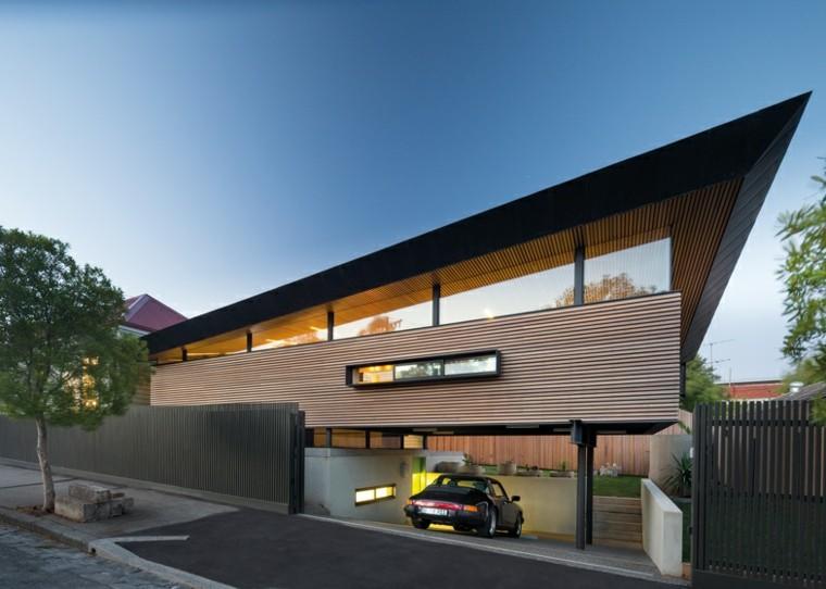 original diseño casa fachada rayas