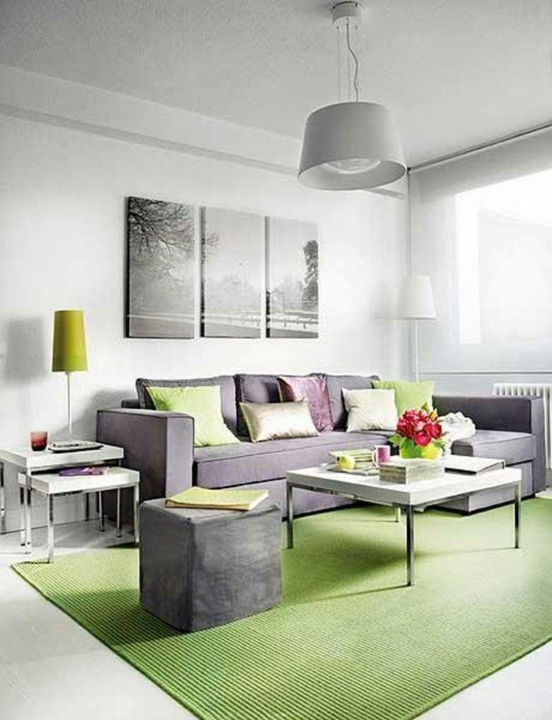 original decoración sala estar verde