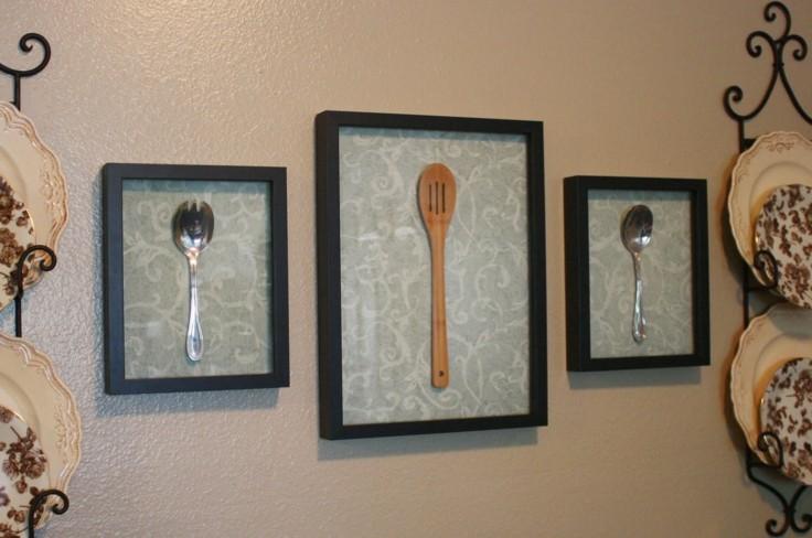 original decoración cucharas enmarcadas
